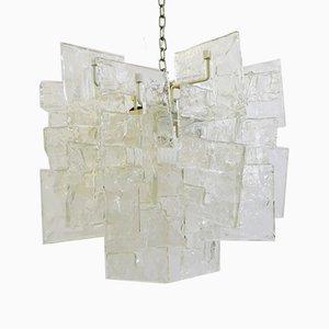 Lámpara de araña de cristal de Murano de Carlo Nason para Mazzega, años 60