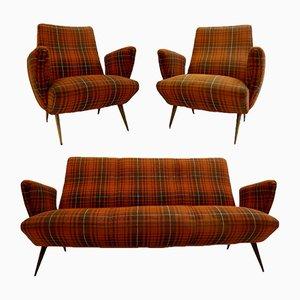 Sofa mit 2 Sesseln von Nino Zoncada für Frimar, 1950er
