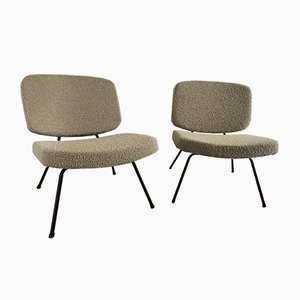 CM190 Slipper Chairs by Pierre Paulin for Thonet, 1960s, Set of 2