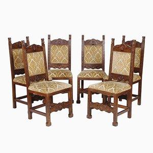 Sedie toscane in stile rinascimentale di Dini & Puccini, anni '30, set di 6