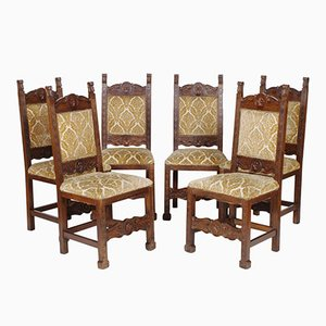 Tuscany Renaissance Style Chairs from by Dini & Puccini, 1930s, Set of 6