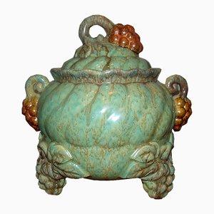 Vase Majolica avec Grappes de Raisin, 1940s