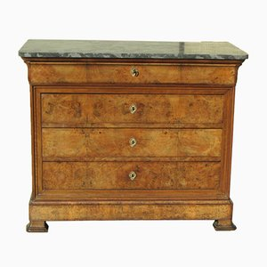 Louis Philippe Walnut & Elm Chest of Drawers, 1890s