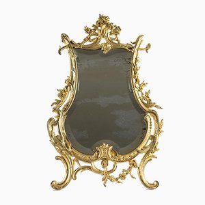 19th Century Napoleon III Gilt Bronze Table Mirror