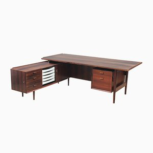 Large Rio Rosewood Model 208 Executive Desk by Arne Vodder for Sibast, 1960s