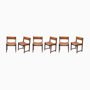 Model 350 Dining Chairs by Hvidt & Møldgaard Nielsen for Søborg Møbelfabrik, 1960s, Set of 6