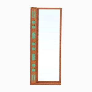 Espejo sueco vintage de teca, años 70