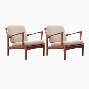 Teak Kuba Lounge Chairs by Bertil Fridhagen for Bröderna Andersson, 1950s, Set of 2
