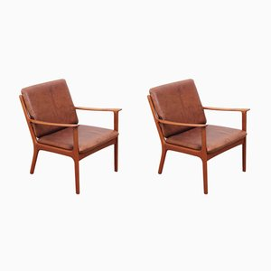 Teak Model PJ 112 Armchairs by Ole Wanscher for Poul Jeppesens Møbelfabrik, 1950s, Set of 2