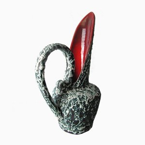 Vallauris Fat Lava Pitcher Vase from Lunetta, 1960s