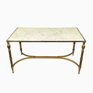 Brass & Marble Coffee Table, 1970s