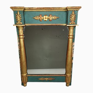 Lacquered & Gilded Wood Directoire Mirror