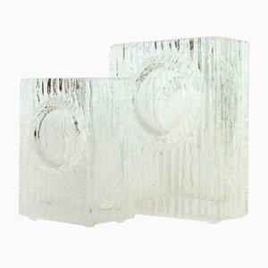 Jarrones de cristal de Daum, años 70. Juego de 2