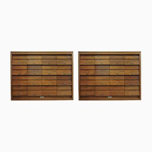 Mid-Century Teak Filing Cabinets from Serota London, Set of 2