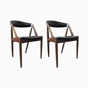 Model 31 Teak Chairs by Kai Kristiansen for Schou Andersen, 1950s, Set of 2