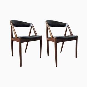 Modell 31 Teakstühle von Kai Kristiansen für Schou Andersen, 1950er, 2er Set