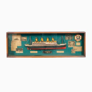 Mid-Century English Portobello Titanic Display Case