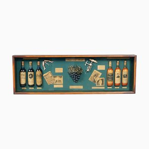 Mid-Century English Portobello Wine Display Case