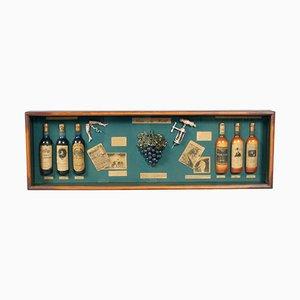 Vitrina para vinos Portobello inglesa Mid-Century