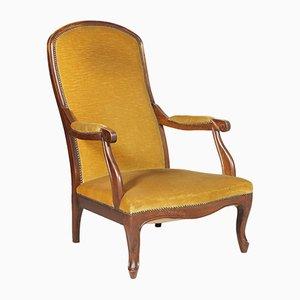 Handgeschnitzter italienischer Jugendstil Sessel aus Nussholz