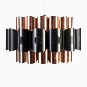 Vintage Copper Ceiling Lamp by Werner Schou for Coronell Elektro