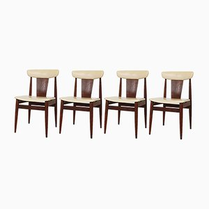 Rosewood Dining Chairs from Topform, 1960s, Set of 4