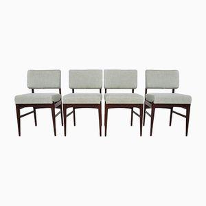 Esszimmerstühle aus Palisander von Louis van Teeffelen für Wébé, 1950er, 4er Set