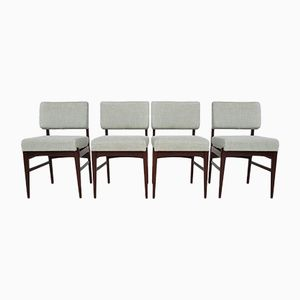 Rosewood Dining Chairs by Louis van Teeffelen for Wébé, 1950s, Set of 4