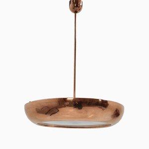 Lámpara colgante de latón de Josef Hůrka para Napako, años 40