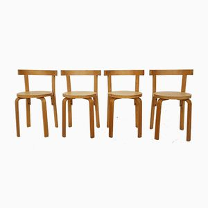 Model 69 Dining Chairs by Alvar Aalto, 1960s, Set of 4