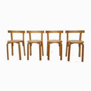 Sedie da pranzo nr. 69 di Alvar Aalto, anni '60, set di 4