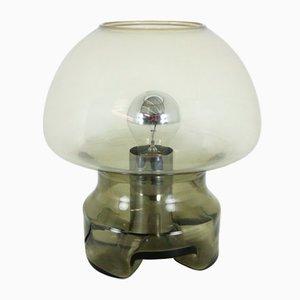 Mushroom Tischlampe aus Rauchglas von Raak Amsterdam, 1970er