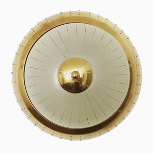 French Art Deco Wall or Ceiling Lamp, 1930s