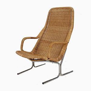 Sessel aus Rattan & Metall von Dirk van Sliedregt für Rohé Noordwolde, 1960er