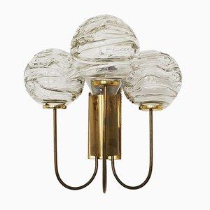 Bubble Wandlampe aus Messing & Eisglas von Doria Leuchten, 1950er