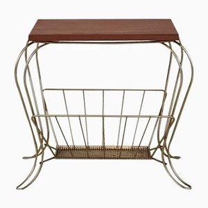 Porte-Revues avec Table Vintage, 1950s