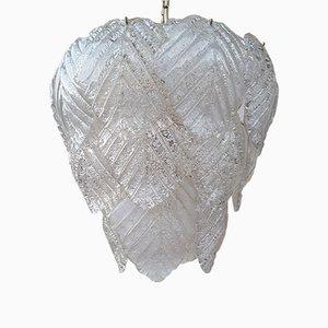 Lámpara de araña Mid-Century de cristal de Murano