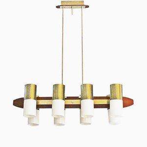 Large Mid-Century Danish Brass Ceiling Lamp