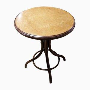 Tavolo da bistrò o tavolino antico in legno piegato di Fischel