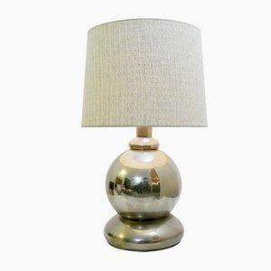 Große kugelförmige Tischlampe aus Chrom, 1970er