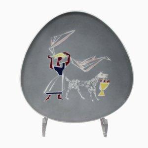 Plat en Porcelaine par Hans Wohlrab pour Rosenthal, 1950s