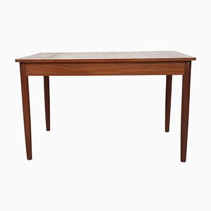 Teak Dining Table with Extendable Leaf, 1950s