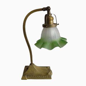 Art Nouveau Brass Table Lamp, 1900s