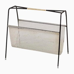 Metal Magazine Stand from Pilastro, 1950s