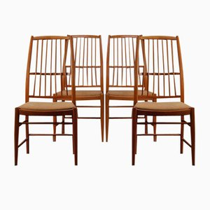 Mid-Century Modell Napoli Esszimmerstühle von David Rosén für Nordiska Kompaniet, 4er Set