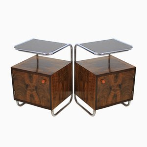 Bauhaus Nightstands from Kovona, 1930s, Set of 2