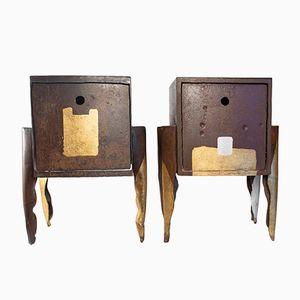 Tavolini da comodino vintage di Jean-Jacques Argueyrolles, set di 2