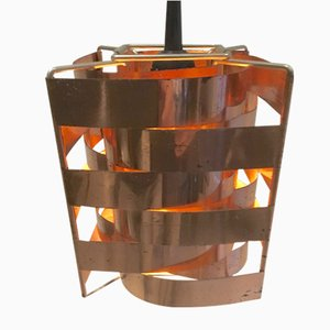 Lampada Mars in rame di Max Sauze, anni '60