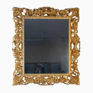 Miroir 19ème Napoléon III Siècle Sculpté et en Bois Doré
