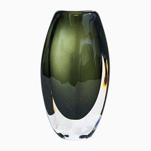 Dusk Glass Vase by Nils Landberg for Orrefors, 1953